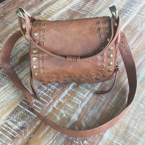 Steve Madden cognac brown faux leather purse